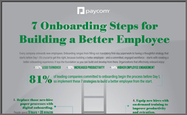 7 Onboarding Steps Infographic